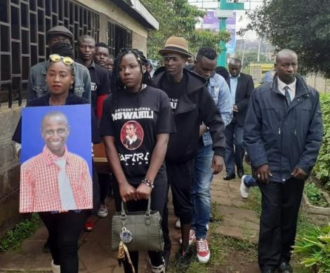 Friends and family mourn comedian Anthony Njenga who passed away in November 2019