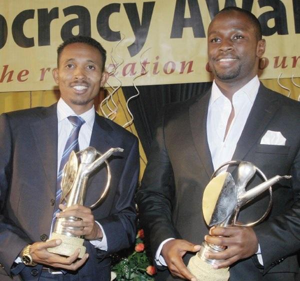 Left to right: Award winning investigative journalists Mohammed Ali and John-Allan Namu.