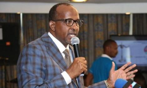 National Assembly Majority Leader Aden Duale speaking during the launch of the Second Strategic Plan (2019 - 2023) for the Commission on Administrative Justice (CAJ) on February 13, 2020