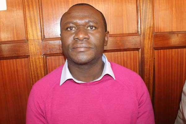 Businessman Francis Nyaga Njeru in a Nairobi court on December 7, 2016, over illegal demolition charges