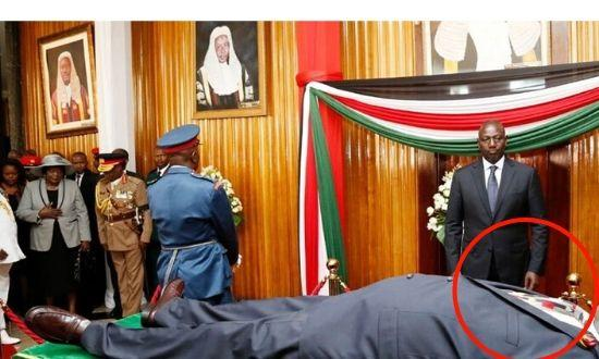 The late former President Daniel Moi was dressed in a colourful tie even in death