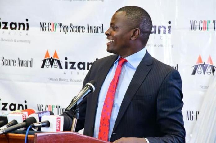 Kiharu MP Ndindi Nyoro during the Mizani Africa report release at Serena Hotel on Tuesday, February 25, 2020.
