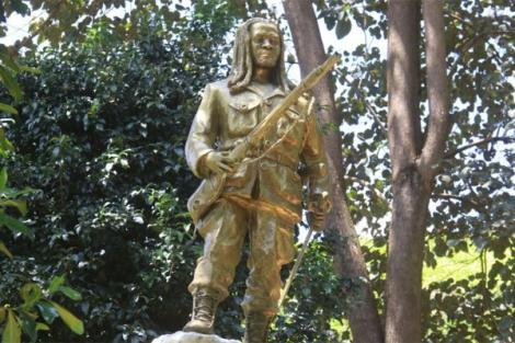 The Dedan Kimathi statue that was erected in Nyeri on February 18, 2020