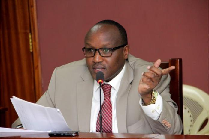 Former Nairobi County Acting County Secretary Leboo Morintat before the Public Accounts Committee on July 9,2019