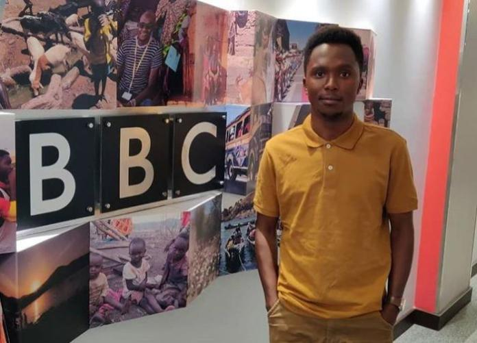 Citizen TV anchor Kimani Mbugua at BBC Africa offices.