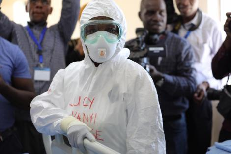 A health practitioner in protective gear at Coronavirus treatment and isolation facility in Mbagathi District Hospital, Nairobi on Friday, March 6, 2020.