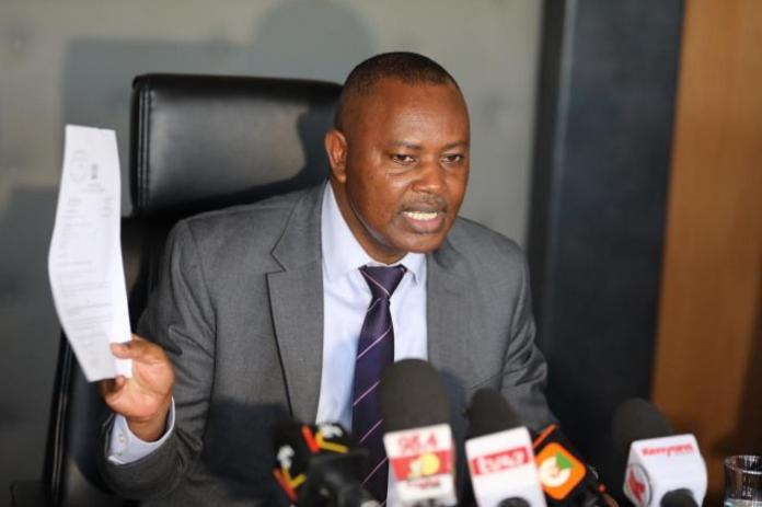DCI Boss George Kinoti Speaking during a press conference at DCI headquarters on March 5, 2020.