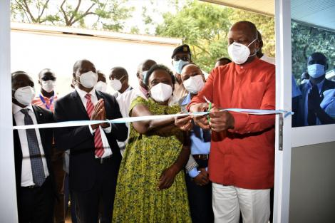 Health CS Mutahi Kagwe opens an isolation facility in Makueni County on Wednesday, July 8, 2020