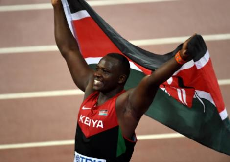 2016 Rio Olympic Games javelin silver medallist Julius Yego.