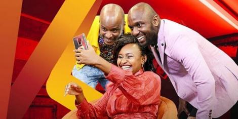 The Loop presenters Valentine Njoroge, Mike Wachira and Jason Runo