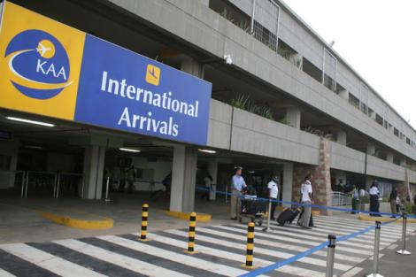 A photo of Jomo Kenyatta International Airport's international arrivals terminus.