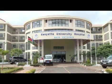 Kenyatta University Teaching, Referral & Research Hospital main entrance area.