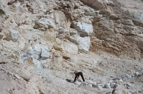 A miner at a Marble mine in Kajiado County on March 7, 2018.