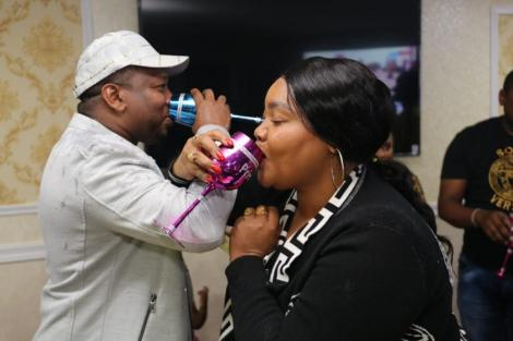 Nairobi Governor Mike Sonko and County First Lady Primrose Mbuvi pictured during his birthday party on March 4, 2020.