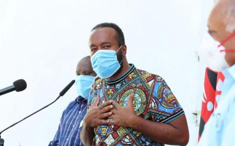 Mombasa Governor Hassan Joho during a press briefing on June 5, 2020.