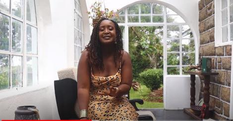 Mercy Kyallo shooting an episode of her YouTube channel