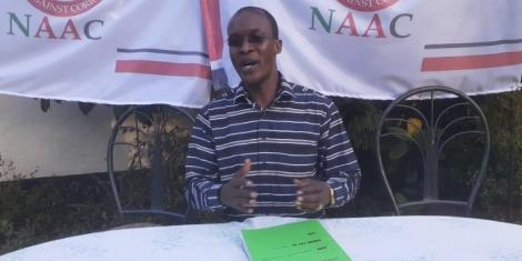 Network Action against Corruption (NAAC) Director Gordwins Agutu