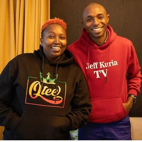 Media personalities Annitah Raey and Jeff Kuria during a past interview