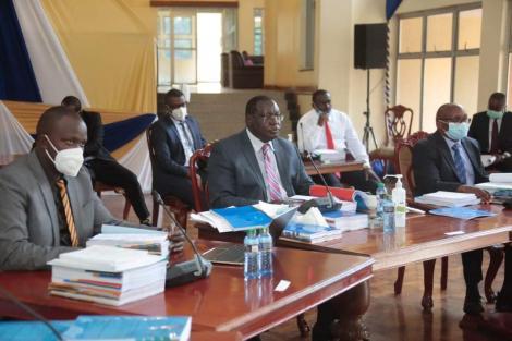 Kiambu Governor James Nyoro appearing before Senate Committee on Monday, August 10, 2020.