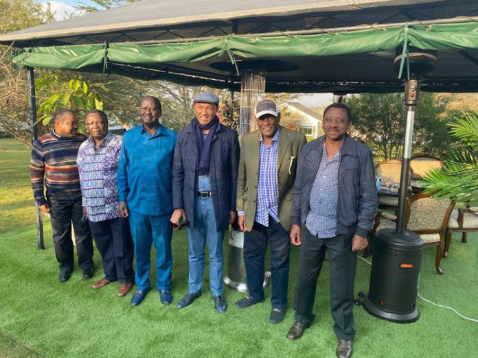 Raila, Murathe And Orengo in Another Meeting at CS Peter Munya's Home