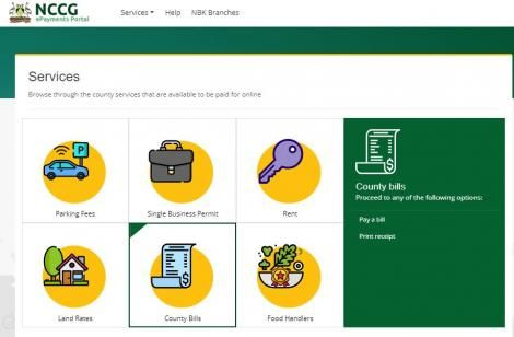 The online platform for payments to the Nairobi County Government