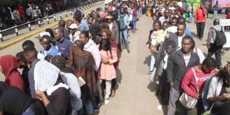 Kenyans line up to register for Huduma Number in April 2019