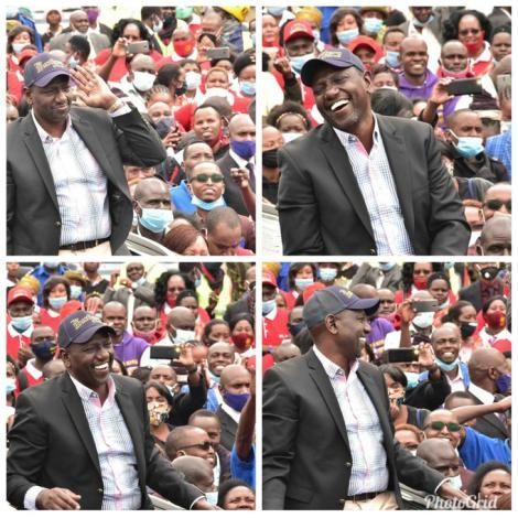Deputy President William Ruto pictured addressing a crowd in Machakos on September 6, 2020