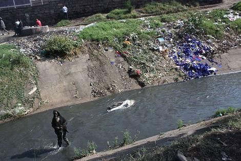 An image of Nairobi River
