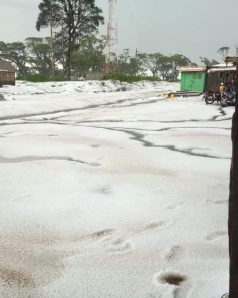 The photo of Narok covered in snow that went viral on September 6, 2020.