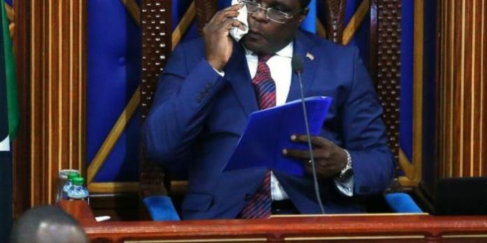 Speaker Lusaka in a meeting with senate committee trying to convince them to support disputed formula that cuts allocation to 18 counties by Sh17 billion