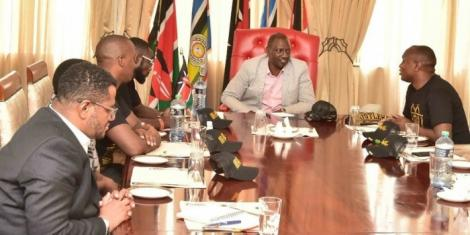 Deputy President William Ruto in a meeting with ODM MCAs in Karen, Nairobi on October 6, 2020