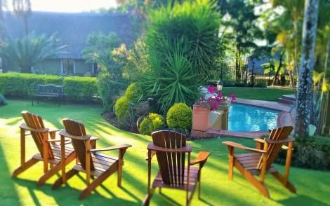 A pool inside Fairview Hotel in Nairobi