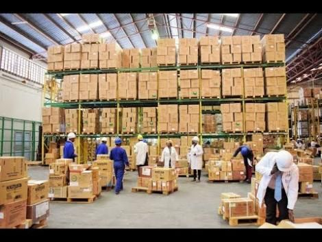 A Kemsa warehouse in Nairobi.