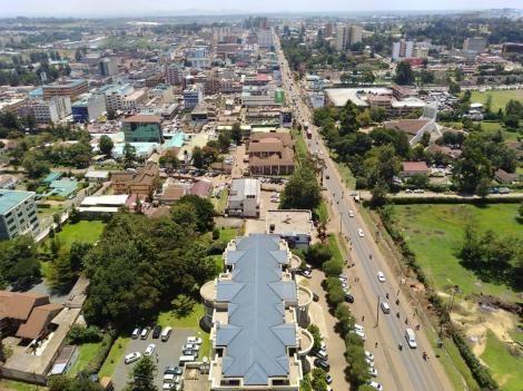 Aerial view of Eldoret, Uasin Gishu County
