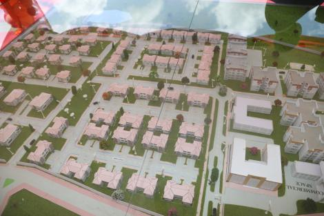 An artistic representation of some of the 2,000 units to be constructed under the Kitui Affordable Housing project.