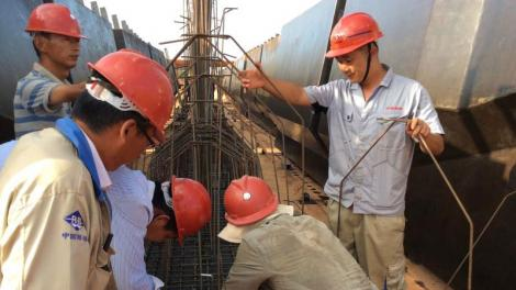 Chinese nationals at work during the construction of the SGR.