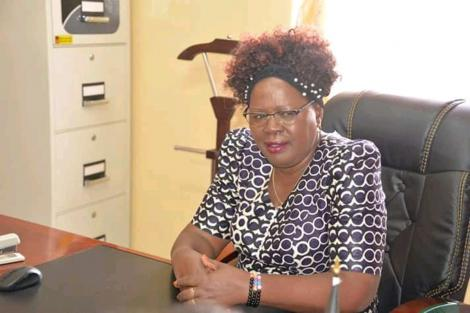 A photo of Kandara MP Alice Wahome in her office.