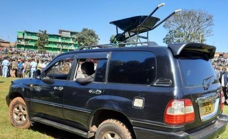 The wheelbarrow gifted to former Governor Isaac Ruto