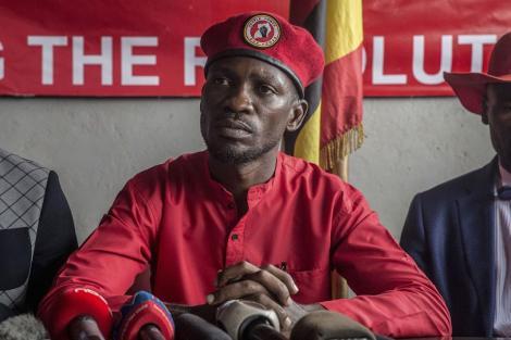 Ugandan presidential candidate Robert Kyagulanyi Ssentamu also known as Bobi Wine