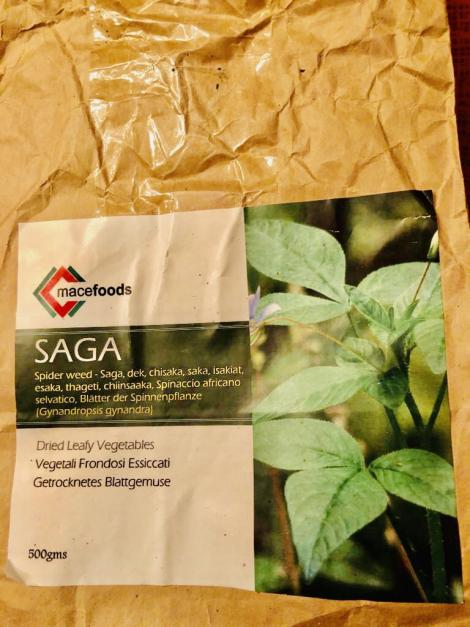 A 500gm pack of Kenyan grown Spider plant on sale in Pennsylvania, USA.