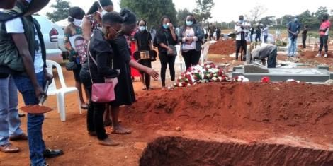 The burial of the late Blessed John Apewajoye at the Lang'ata cemetery on Thursday, July 23.