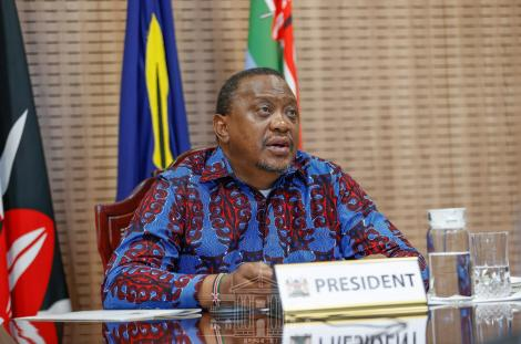President Uhuru Kenyatta speaking during the virtual launch of the Kenya Programme for Country Partnership (PCP) Self-Starter by the United Nations Industrial Development Organization