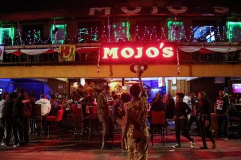 Revellers partying at Mojo's Club in its heyday