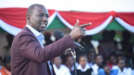 Deputy President William Ruto speaking during a rally