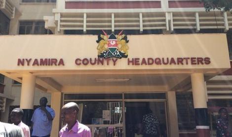 Entrance into Nyamira County Assembly