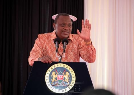 President Uhuru Kenyatta addressing the annual presidential briefing to the diplomatic corps at State House on March 4, 2021