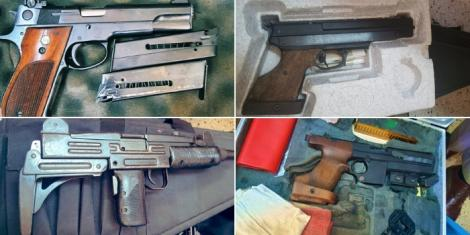 An assortment of guns recovered in Dagretti, Nairobi on April 14, 2021