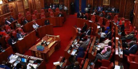 Members of Senate in session at Parliament Building Nairobi on January 29, 2020.