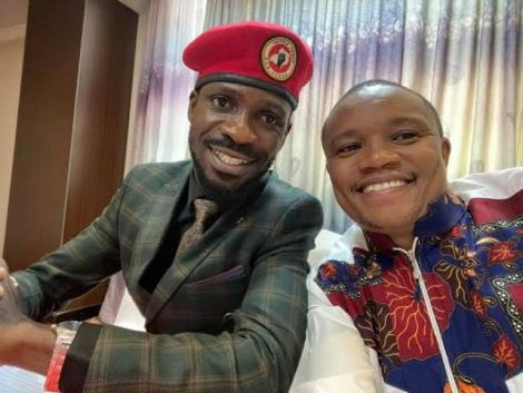 MP Kuria Kimani and Uganda's opposition leader Bobi Wine at past function in 2020