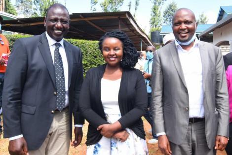 Deputy President William Ruto and Gaturi Ward MCA Esther Mwihaki on January 6, 2020